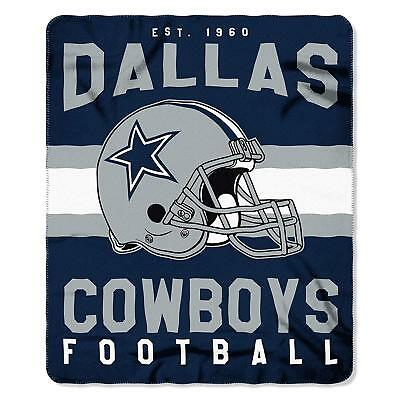 "Dallas Cowboys 50"" x 60"" Singular Printed Fleece Throw Blanket"