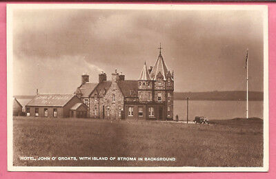 Hotel, John O' Groats, with Island of Stroma, Caithness, Scotland postcard. R P.