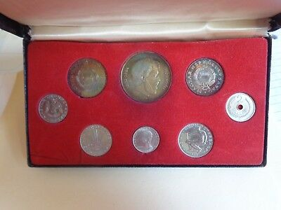1966 Hungary 8 Coin Proof Set - 3 Silver Coins w/ Color Toning (2,000 Minted)