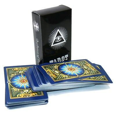 English gold tarot cards mysterious Bright gilded playing cards game