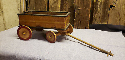 Antique Vintage Wooden Toy Wagon