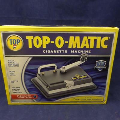 Top O Matic Cigarette Tobacco Machine + 100 Mm hand held. Used T6
