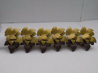 Two Tone Maple Leaf Collage Napkin Ring Set of 6