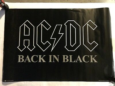 size 24x36 AC//DC BACK IN BLACK ROCK MUSIC PICTURE POSTER
