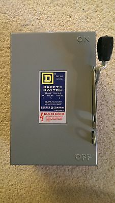 Square D - D111N  30amp 120V AC 120VAC Fusible safety switch disconnect -NEW