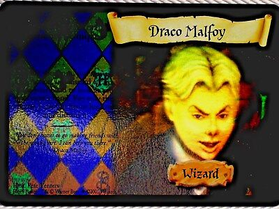 Harry Potter BASE SET - DRACO MALFOY -  HOLO # 2/116 - NEW