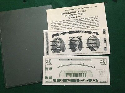 2 Giori Test Notes BLACK FRONT (presidents )GREEN BACK