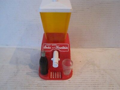 vintage andy gard,coke toy plastic soda fountain,1950s-60s