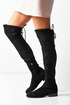 8d89b8eb82e  220 Dolce Vita Neely over the knee boot OTK BLACK LOWLAND COMFORT 8.5 US  (T36