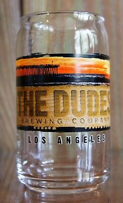 The Dudes' Brewing Co Can Shape Pint Glass Los Angeles FREE SHIPPING