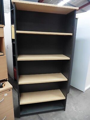Office 1800Mm Bookcase Young Beech / Ironstone Brisbane