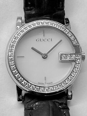 952dc21b502 Very Nice Lady s Gucci 101L Stainless Steel Watch With 47 Diamonds Bezel