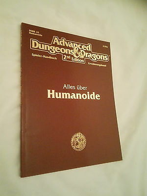 ALLES ÜBER HUMANOIDE AD&D 2nd  ADVANCED DUNGEONS & DRAGONS SEHR GUT