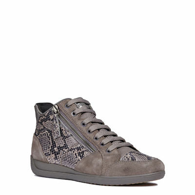 GEOX SNEAKER DONNA A i Happy D5462C 00022 Scamosciato Dk Grey Casual ... 9d68c955b61