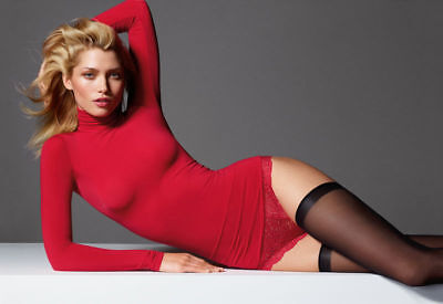 Wolford Buenos Aires Pullover Rollkragen Turtle Neck lipstick red sexy sheer OVP