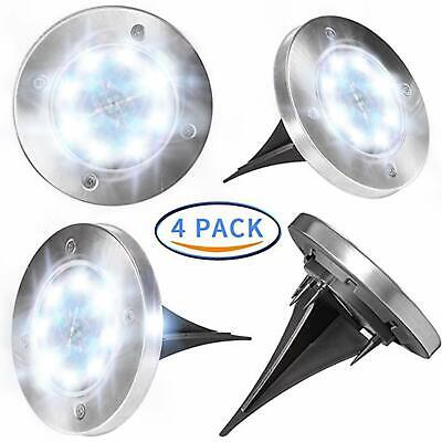 Solar Ground Lights Garden Pathway Outdoor In-Ground Lights With 8 LED - 4 pack