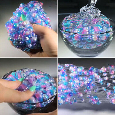 Plastic Bottle Transparent Jelly DIY Slime Pearl Mud Slime Stress Relief Toy SP