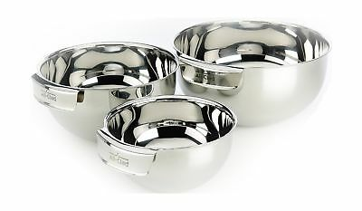 All-Clad MBSET Stainless Steel Dishwasher Safe Mixing Bowls Set Kitchen Acces...