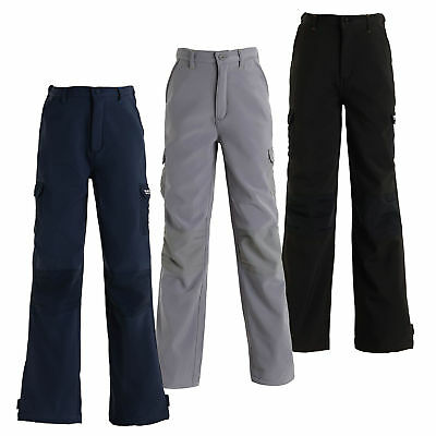 Regatta Softshell Kids Trousers Girls Boys Stretch Soft Warm Winter Pants