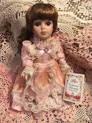 Sweet Little Limited Edition Collectors Doll Pink Windsor Mail Danica Porcelain