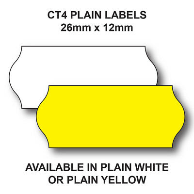 Ct4 Price Gun Labels 26 X 12Mm – White Or Yellow – 45,000 Blank Labels