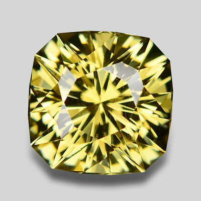 14.71Cts Amazing Custom Cushion Cut Natural Yellow Beryl Video In Description