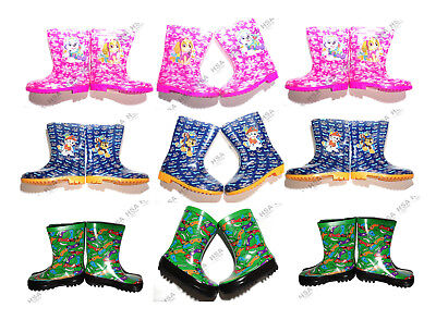 Kids Boys Girls Character Wellies/Welly Boots,PawPatrol,Turtles,Christmas Gift