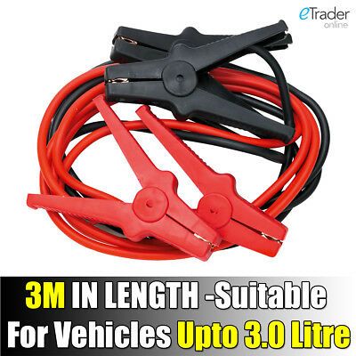 12V Heavy Duty Jump Leads Car Starter Cable Boost Starting Cables Van 3M Long