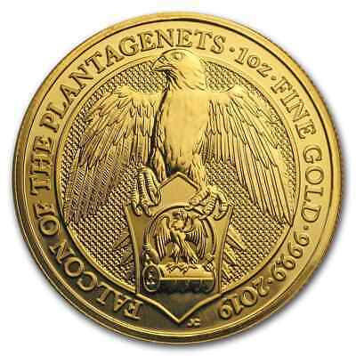 2019 Great Britain 1 oz Gold Queen's Beasts The Falcon - SKU#173237