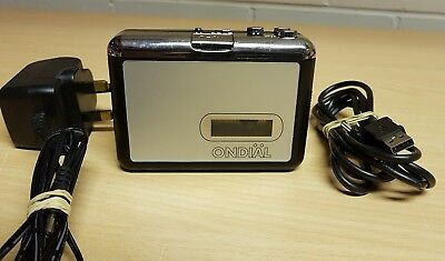 ONDIAL Cassette to MP3 Converter  with USB Lead and AC Adapter #G