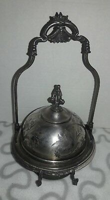 Vintage Aurora Warranted Triple Silverplate Victorian Butter Dish - 139