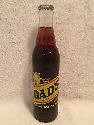 FULL 10oz KING SIZE  JUNIOR DAD'S ROOT BEER ACL SODA BOTTLE
