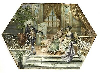 Late 19th. Early 20th. Century French Watercolor Signed Hubur