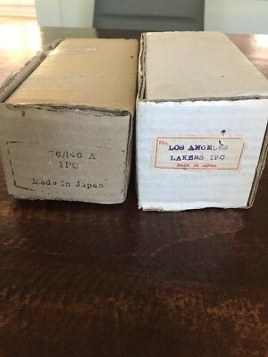 Two 2 Vintage 1960's bobblehead boxes L.A. Lakers and Unknown Nodder Box