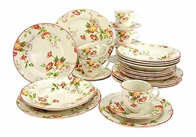 Creatable 19717 Evet Service de Table Porcelaine Multicolore 40 x 32,5 x 32,5
