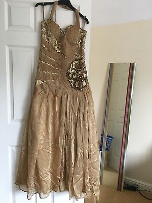 Occassion Wedding Reception Prom Formal Evening Gown Dress Indian