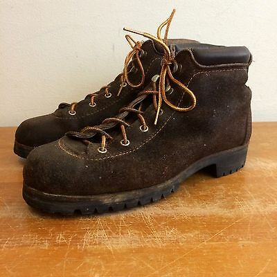 Vasque Vintage 70s Mens 6 Brown Nubuck Leather Mountaineering Hiking Boots