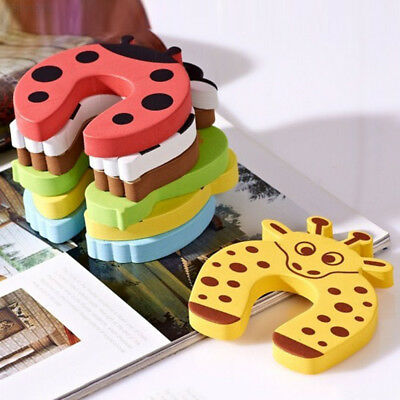 D410 5pcs Cartoon Designed Kid Finger Safety Door Stopper Protector Lock Pinch