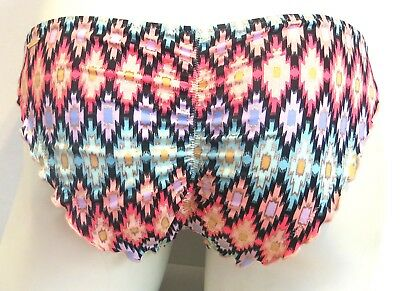 Victoria's Secret Warm Ikat Foil Ruched Back Bikini Bottom