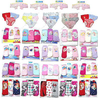 2/3/5Pack Girls Kids Character Underwear Cotton Briefs Underpants,Christmas Gift