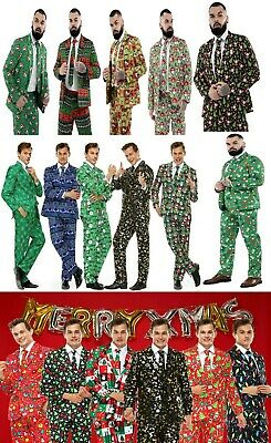 Men Adults Christmas Costumes Xmas Suit Funny Party Suit Santa FairIsle Elf Suit