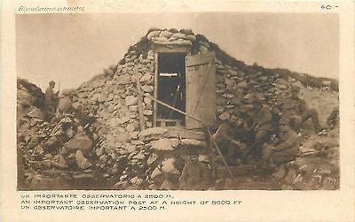 WW1 Italia Italy an important observation post at a heigh of 8000 ft