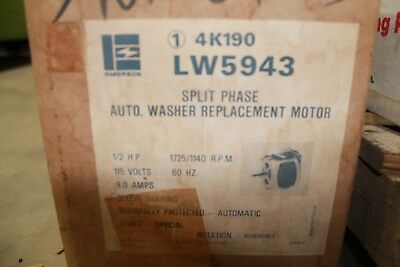Emerson LW5943 Washer Motor 1/2HP - 115V - 1725/1140RPM