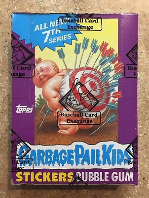 1987 Garbage Pail Kids 7th Series 48 Unopened .25 Cent Packs-CLEAN BBCE BOX! TWT