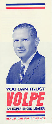 1960's John Volpe for governor Massachusetts MA campaign brochure