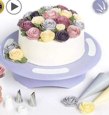 Cake Turntable Rotating Cake Stand - Cake Decorating Supplies