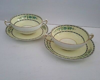 Cups and Saucers RARE Antique 1920's George Jones & Sons for Burley & Co Chicago