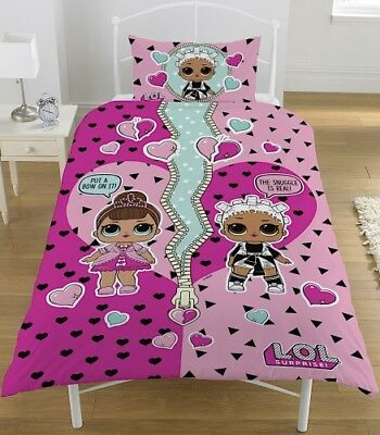 L.O.L Surprise Opposites Reversible Single Duvet Cover Bedding set bedding girl