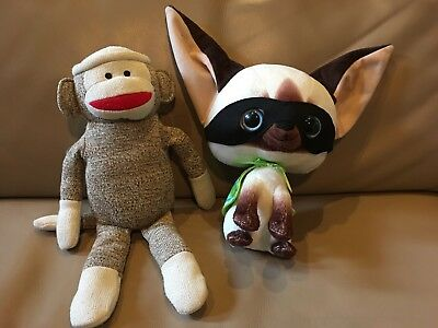 Kohls Cares Skippyjon Johns Chihuahua Dog Siamese Cat Sock Monkey Plush