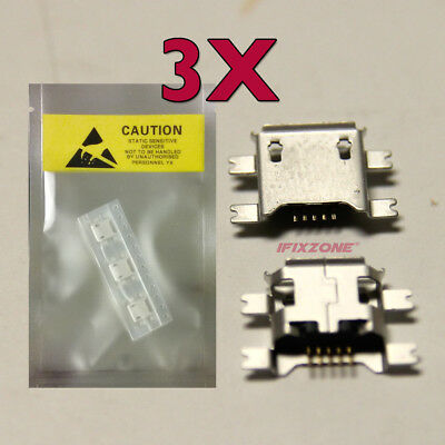 2 X New Micro USB Charging Sync Port Charger DELL Venue 7 T01C 3740 Tablet USA